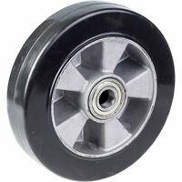 """Kółko 200mm 8 """"czarna Guma Z Aluminiowym Środkiem, Nośność 450kg"""