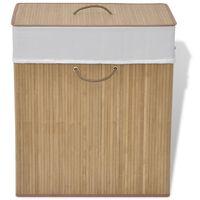 vidaXL Bambusowy kosz na pranie, prostokątny, naturalny