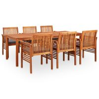 vidaXL 9-cz. zestaw mebli ogrodowych z poduszkami, drewno akacjowe