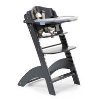 CHILDHOME Krzesełko do karmienia 2-w-1 Lambda 3, antracytowe