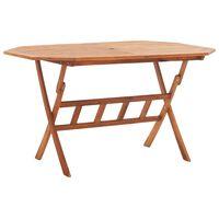 vidaXL Składany stół ogrodowy, 135x85x75 cm, lite drewno akacjowe