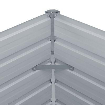vidaXL Donica do podniesionej grządki, 160x80x45 cm, stal, antracytowa