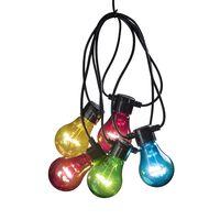 KONSTSMIDE Oświetlenie imprezowe, 5 przezroczystych, kolorowych lampek