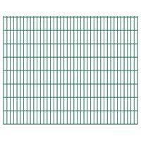 vidaXL Panele ogrodzeniowe 2D, 2,008 x 1,63 m, 22 m, zielone