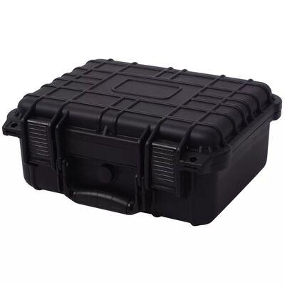 vidaXL Walizka ochronna czarna 35x29,5x15 cm
