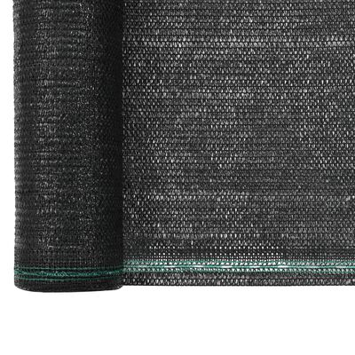 vidaXL Siatka ochronna do kortu tenisowego, HDPE, 1x100 m, czarna