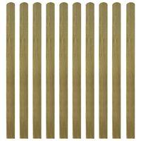 vidaXL 30 impregnowanych sztachet drewnianych, 140 cm