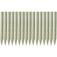 vidaXL Zaostrzone słupki ogrodzeniowe 16 szt. drewno impregnowane, 1 m