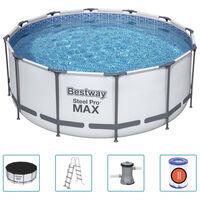 Bestway Basen ogrodowy Steel Pro MAX z akcesoriami, okrągły, 366x122cm