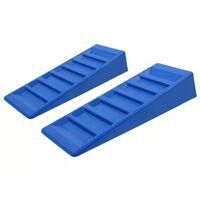 ProPlus 2-cz. zestaw najazdów poziomujących, 75mm, plastik, niebieskie