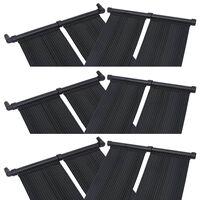 vidaXL Panele solarne do podgrzewania basenu, 6 szt., 80x310 cm