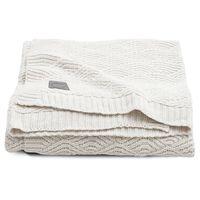 Jollein Kocyk River Knit, 75 x 100 cm, kremowa biel