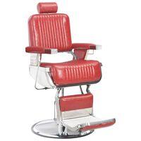 vidaXL Fotel barberski, czerwony, 68x69x116 cm, sztuczna skóra