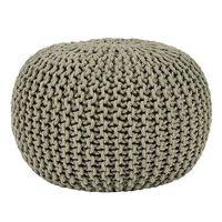 LABEL51 Puf wydziergany z bawełny, M, oliwkowy