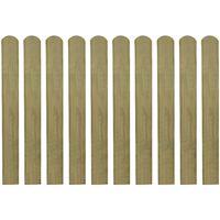 vidaXL 30 impregnowanych sztachet drewnianych, 80 cm