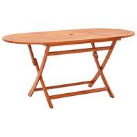 vidaXL Składany stół ogrodowy, 160x85x74 cm, lite drewno eukaliptusowe