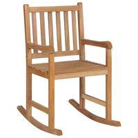vidaXL Fotel bujany, lite drewno tekowe