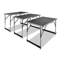 vidaXL Składane stoły do tapetowania, 3 szt., regulowana wysokość