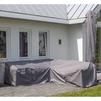 Madison Pokrowiec na zestaw ogrodowy, 255x255x70 cm, szary