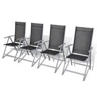vidaXL Składane krzesła ogrodowe, 4 szt., aluminium