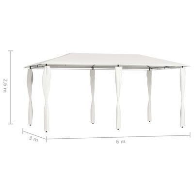 vidaXL Altana z pokryciem słupków 3x6x2,6 m, kremowa, 160 g/m²