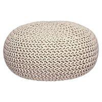 LABEL51 Puf wydziergany z bawełny, L, naturalny