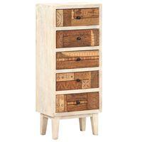 vidaXL Komoda, 45x30x105 cm, lite drewno z odzysku