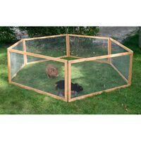 Kerbl Wybieg dla małych zwierząt Vario, drewniany, brązowy 84399
