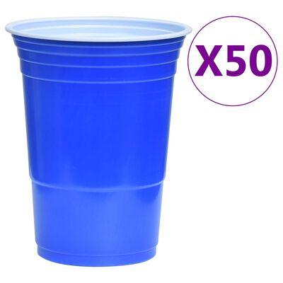 vidaXL Zestaw do Beer Ponga stołowego, 0,5 L, plastik