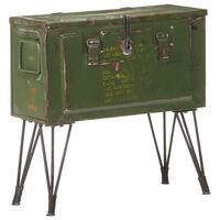 vidaXL Skrzynia w militarnym stylu, 68x24x66 cm, żelazo