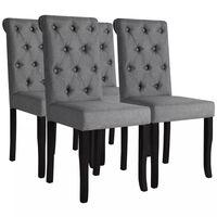 vidaXL Krzesła stołowe, 4 szt., ciemnoszare, tkanina