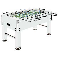 vidaXL Stół do gry w piłkarzyki, stal, 60 kg, 140x74,5x87,5 cm, biały