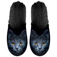 Plenty Gifts Pluszowe kapcie z kotem, czarne, rozmiar 39-42, 42539