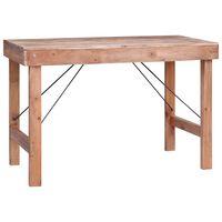 vidaXL Stół jadalniany, 120x60x80 cm, lite drewno z odzysku