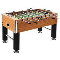 vidaXL Stół do gry w piłkarzyki, stal, 60 kg, 140x74,5x87,5 cm