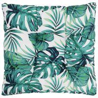 vidaXL Poduszka na siedzisko ogrodowe, w liście, 50x50x10 cm, tkanina
