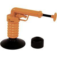 Drain Buster Ręczny przepychacz do zlewu, pomarańczowo-czarny