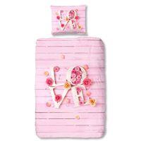 Good Morning Zestaw pościeli 5354-P LOVE, 135x200 cm, różowy