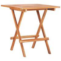 vidaXL Składany stolik bistro, 60x60x65 cm, lite drewno tekowe