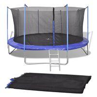 Siatka zabezpieczająca do okrągłej trampoliny, 3,96 m