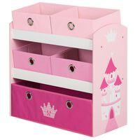 roba Półka na zabawki Crown, różowa, 63,5 x 30 x 60 cm, MDF