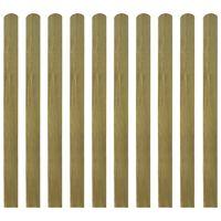 vidaXL 30 impregnowanych sztachet drewnianych, 120 cm