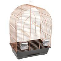 FLAMINGO Klatka dla papużki Klara 1, 39x25x53 cm, miedziana