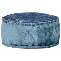 vidaXL Puf, okrągły, aksamitny, 40x20 cm, niebieski