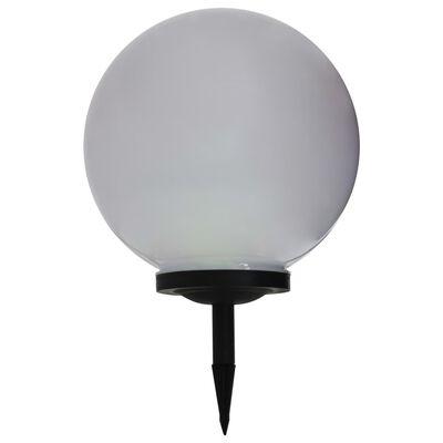 vidaXL Kulista lampa solarna na zewnątrz, LED, 40 cm, RGB
