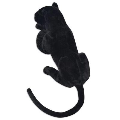 vidaXL Pluszowa pantera XXL czarna