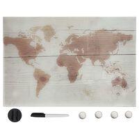 vidaXL Ścienna tablica magnetyczna, szklana, 50 x 30 cm