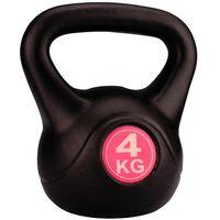 Avento Ciężarek kettlebell 4 kg, czarny, 41KA