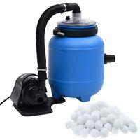 vidaXL Pompa filtracyjna do basenu, czarno-niebieska, 4 m³/h