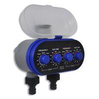 vidaXL Automatyczny, elektroniczny sterownik nawadniania, 2 wyloty
